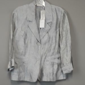 NWT Chico's Silver Linen blend cardigan